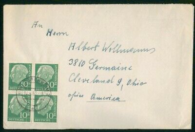 MayfairStamps Germany 1957 to Cleveland Ohio Cover wwo29867
