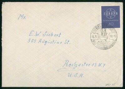 MayfairStamps Germany 1960 Belsen to Rochester New York Cover wwo29967