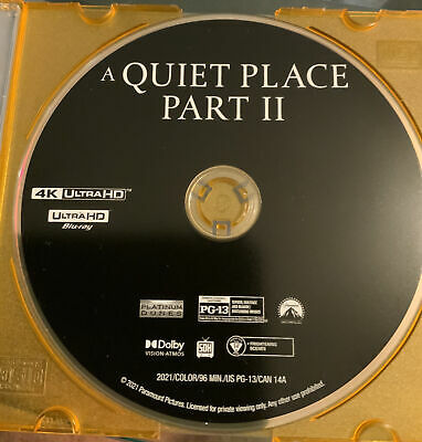 A Quiet Place Part II 4K ULTRA HD DISC ONLY