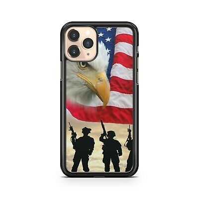 Majestic Eagle Heroic Soldiers American Flag Military Army Fine Phone Case Cover