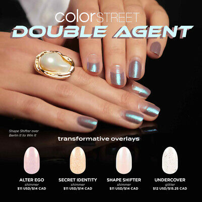 🌈✨💝 COLOR STREET DOUBLE AGENT OVERLAY NAIL STRIPS PRE-ORDER 💝✨🌈