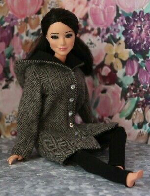 №182 Handmade Doll Clothes- Coat and Leggings for Dolls-