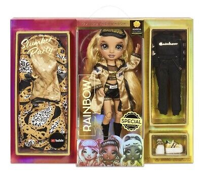 Rainbow High Slumber Party MARISA GOLDING Fashion Doll With 2 Outfits - PREORDER
