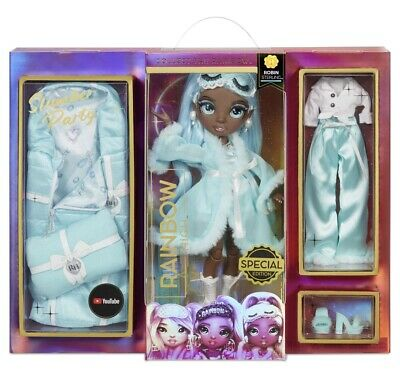 Rainbow High Slumber Party ROBIN STERLING Fashion Doll With 2 Outfits-PREORDER