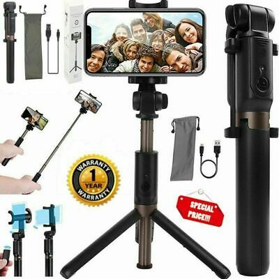 Wireless Selfie Stick Extendable Tripod Remote Cell Phone Holder  iPhone Samsung