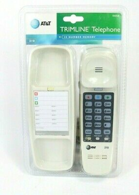 AT-T Home Telephone Corded Desk Wall Mount Trimline Phone White