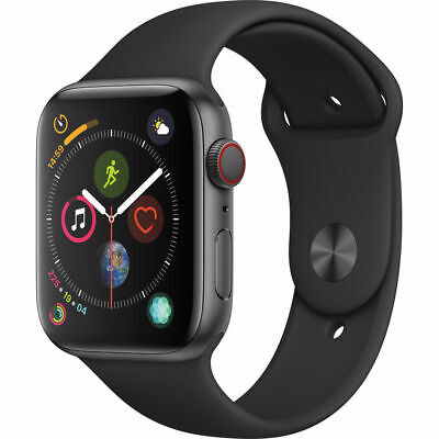 Apple Watch Series 4 44mm Space Gray Case Black Sport Band GPS - LTE MTUW2LLA