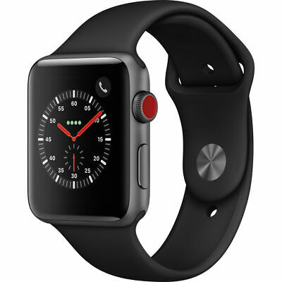 Apple Watch Series 3 42mm Black Sport Band GPS - LTE - Space Gray MTGT2LLA