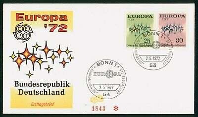 Mayfairstamps Germany FDC 1972 Europa Stars Combo First Day Cover wwp-85875
