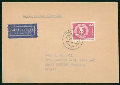 MayfairStamps Germany 1974 to Grand Rapids Michigan Air Mail Cover wwr5207
