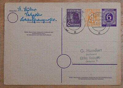 MayfairStamps Germany 1948 Compound Salzgitter Used Stationery Card wwr26325