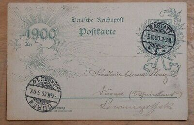MayfairStamps Germany 1900 Ratatt to Duren Used Stationery Card wwr26127