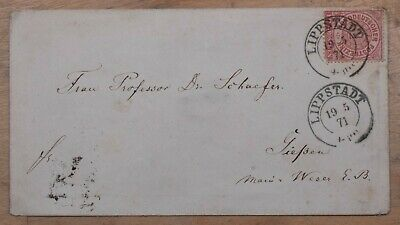 Mayfairstamps North Germany Confederation 1874 Lippstadt to Gieben Classic Cover
