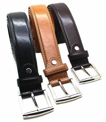 MENS CASUAL DRESS JEANS GENUINE LEATHER BELT 1 12 WIDE M L XL - BIG SIZE