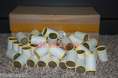 One Unsearched Half Dollar Roll- POSSIBLE 40 90 KennedyFranklin Silver Coins