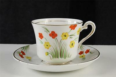 Vintage Phoenix English China Teacup - Saucer Hand Painted Black Eyed Susan