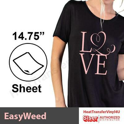 Siser EasyWeed Heat Transfer Vinyl 15 x 1 Foot 12 COMBINED SHIPPING DISCOUNT