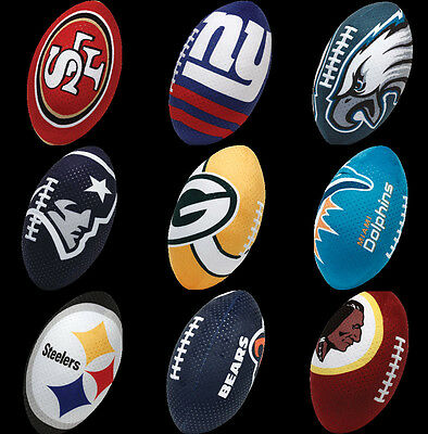NFL PLUSH FOOTBALL TY BEANIE BALLZ NFL RUSH ZONE RZ NICKELODEON SELECT YOUR TEAM