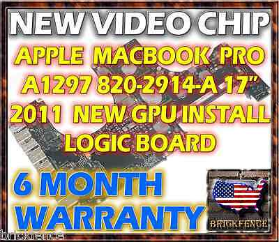 APPLE MACBOOK PRO A1297 820-2914-A 17 2011 LOGIC BOARD REPAIR - NEW GPU REBALL