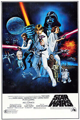 STAR WARS EPISODE IV - A NEW HOPE - MOVIE POSTER STYLE C SIZE 27 X 40