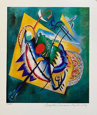 Wassily Kandinsky RED OVAL Estate Signed Limited Edition Art Small