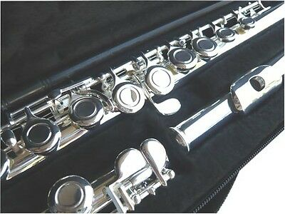NEW SILVER C FLUTE -  STUDENT SCHOOL BAND FLUTE WCASE-APPROVED- WARRANTY-
