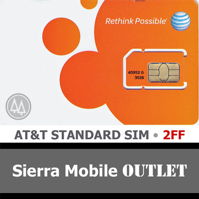 AT-T MINI - STANDARD 2FF SIM Card • GSM 4GLTE • NEW OEM Prepaid or Contract