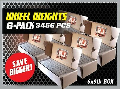 6 - 9 LBS BOXES 3456 PIECES STICK-ON ADHESIVE TAPE 14 OZ WHEEL WEIGHTS