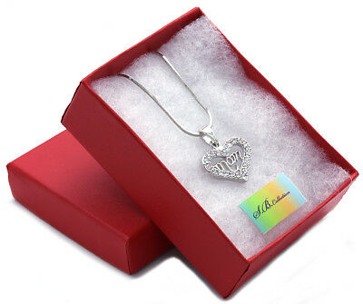 Heart MOM Necklace Love Pendant Women Mothers Day Fashion Jewelry Gift Charm z3