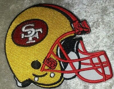 San Francisco 49ers Helmet 3-5 Iron On Embroidered Patch FREE Ship