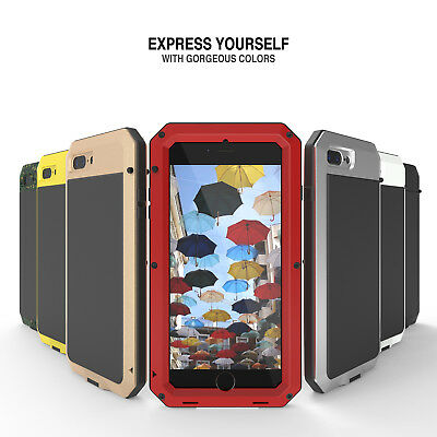 Shockproof Aluminum Glass Metal Case Cover for iPhone 5S 6 - Plus