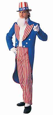 Uncle Sam Patriotic July 4th Adult Mens Costume Independence Day Halloween Party