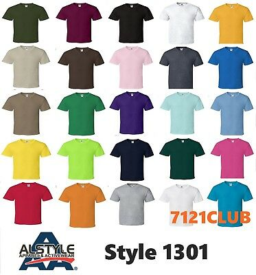 Alstyle Apparel AAA T Shirt 1301 Mens Plain Blank Short Sleeve T Shirts S-5XL