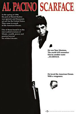 SCARFACE - MOVIE POSTER THE AMERICAN DREAM - REGULAR STYLE SIZE 24 X 36