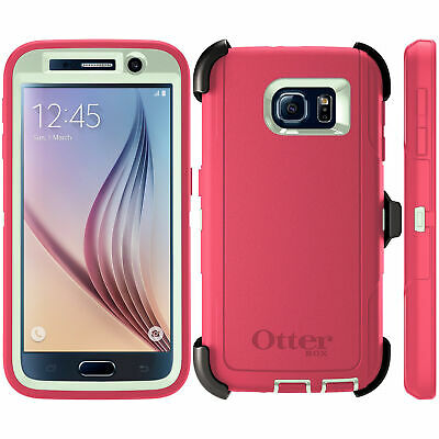 OtterBox Defender Series for Samsung Galaxy S6 w Belt Clip - Holster - Pink
