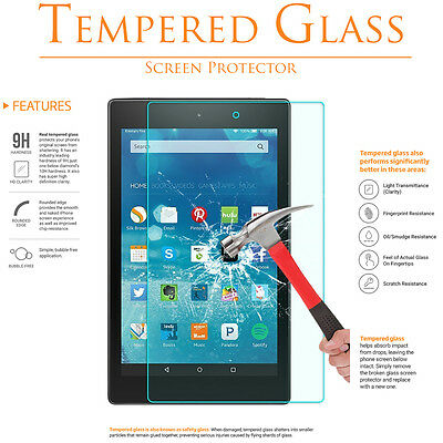 Premium Tempered Glass Film Screen Protector for Amazon Kindle Fire HD 8  10