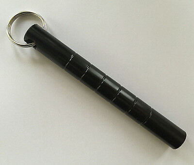 KUBATON KEYCHAIN Kubotan Ultra Strong BLACK FLAT END Self Defense Weapon NEW