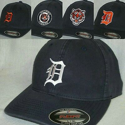 Detroit Tigers FLEXFIT CAP ✨HAT ✨CLASSIC MLB PATCHLOGO ✨3 SIZES 5 STYLES ✨NEW