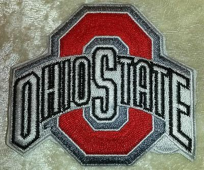 Ohio State Buckeyes 3 Iron On Embroidered Patch FREE Ship