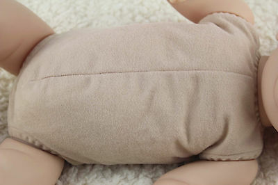 19-20 doe suede cloth body for full limbs arms and legs reborn baby doll kits