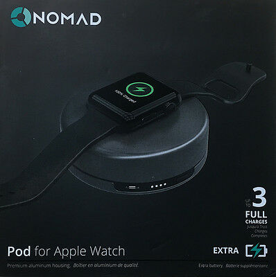 Nomad Charging Pod for Apple Watch - pod-apple-sg-001 - Space Gray - New Other