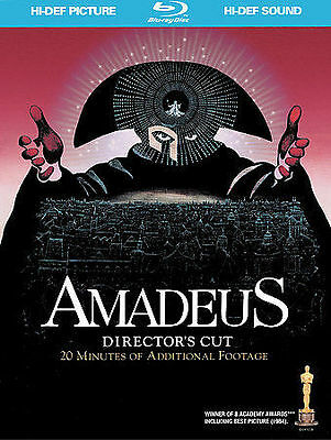Amadeus Blu-ray Disc 2009 2-Disc Set with Bonus CD Directors Cut BRAND NEW
