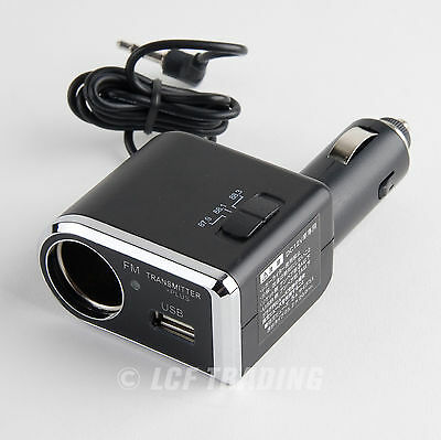 YAC TP-173 FM Transmitter for iPhone - iPod Touch with USB Port  Charger