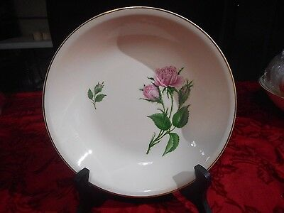Paden City Pottery Pink Moss Roses Coupe Soup Bowl