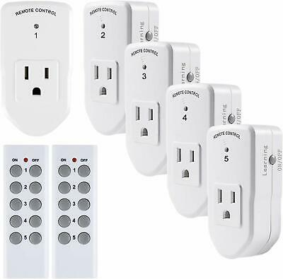 BN-LINK Wireless Remote Control Outlet Switch Power Plug In for lights LED bulbs