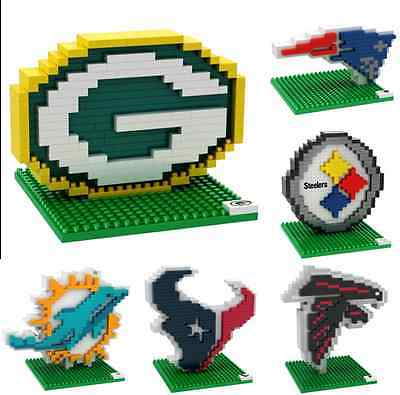 NFL Football 3D BRXLZ Team Logo Puzzle Construction Block Set - Pick Team
