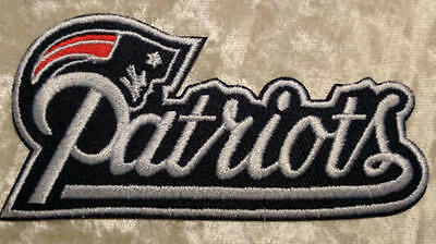 New England Patriots  4 Name Iron On Embroidered Patch  FREE Ship