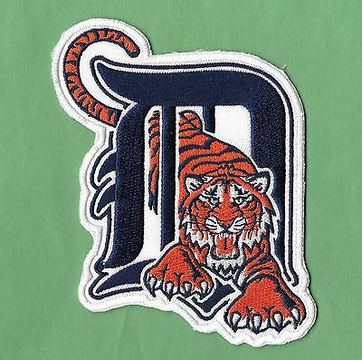 New Detroit Tigers Large D Tiger 3 12 X 5 Iron on Patch Free Shipping