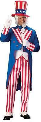 Uncle Sam Adult Costume Jacket Patriotic July 4th Independence Day Halloween