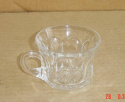 EAPG CRYSTAL COLONIAL PANEL 331 CUP DIAMOND MARKED HEISEY GLASS 1907